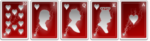 kombinasi kartu straight flush tertinggi royal flush